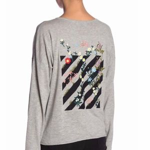 NWT Skull Cashmere Embroidered Knit Pullover S